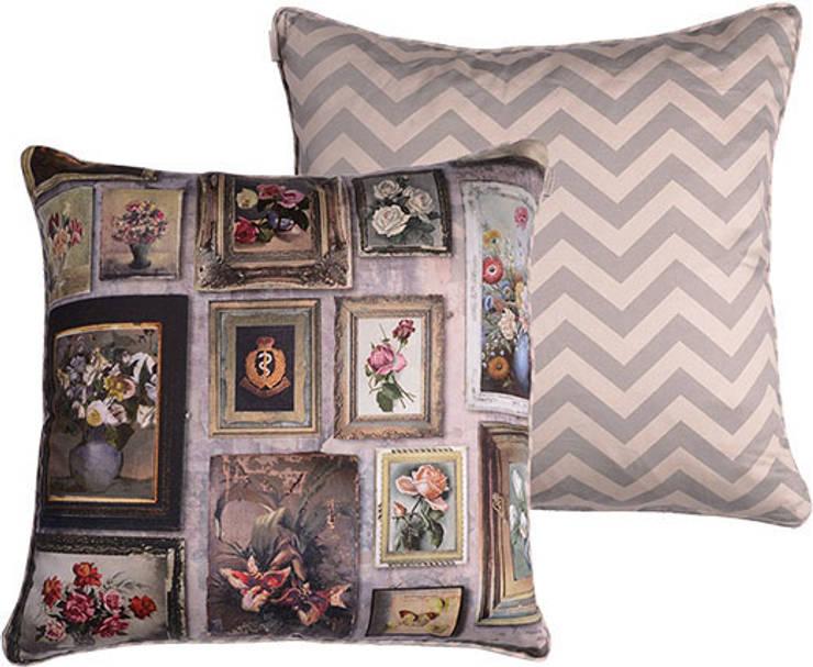 Gallery Print Cushion:  Living room by Emily Humphrey Design