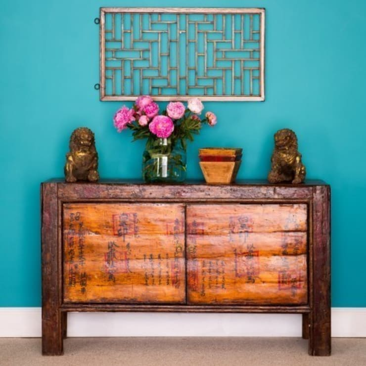 Oriental Decorated Sideboard c.1890 Mongolia:   by Orchid