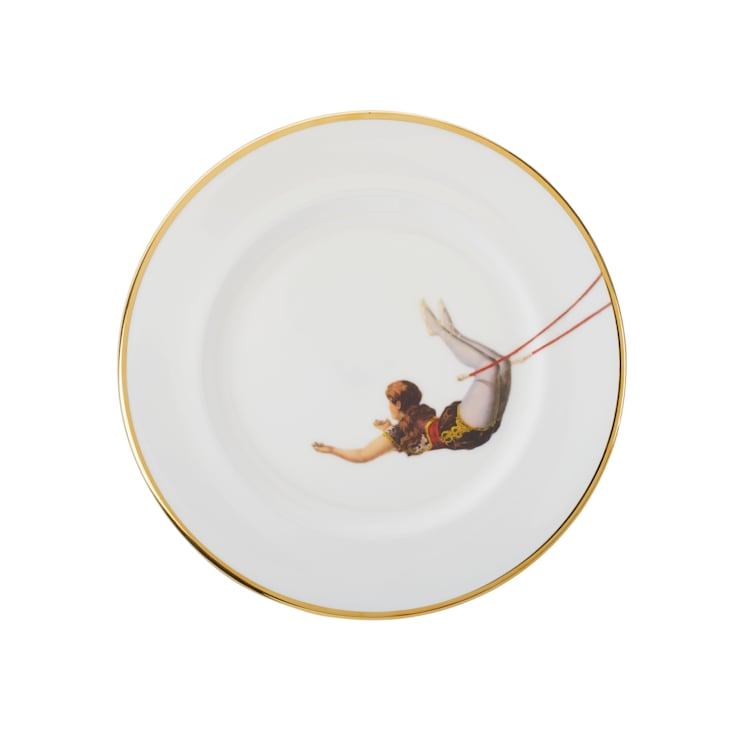Trapeze Girl Bone China Plates:  Dining room by Melody Rose