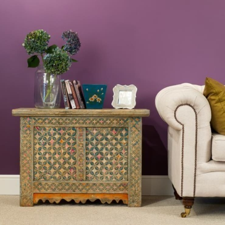 Multicoloured Lacquered Two Door Cabinets:   by Orchid