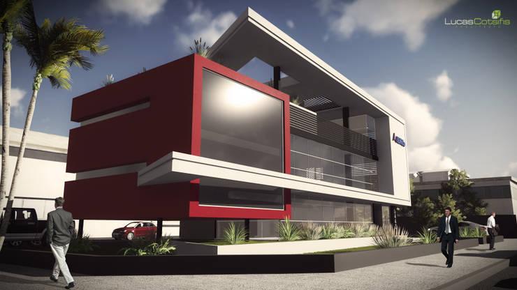 Oficinas IEMCo S.R.L.: Edificios de Oficinas de estilo  por Arq. Lucas Cotsifis