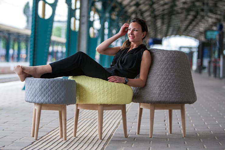 BOUNCE family:  Woonkamer door Product Design - Véronique Baer