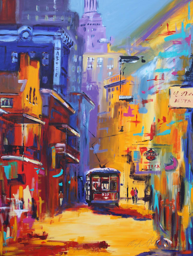 New Orleans Tram:  Artwork by Marilyn Allis