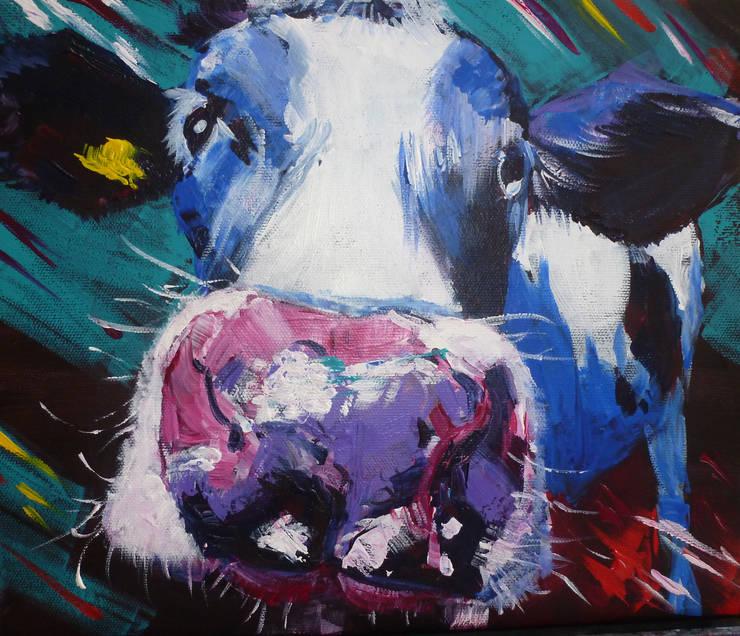 Cheeky Cow:  Artwork by Marilyn Allis