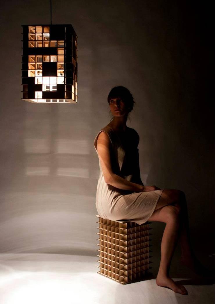 Tetris Lamp:  Woonkamer door Alexander Claessen, Industrieel