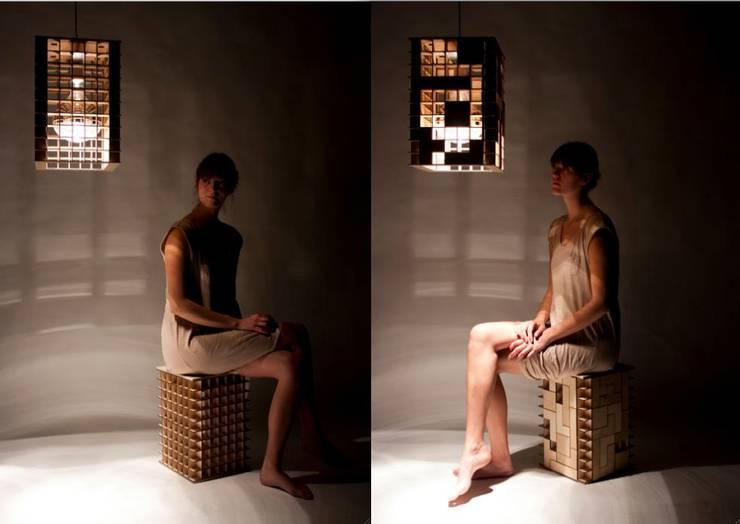 Tetris Lamp & Kruk:   door Alexander Claessen, Industrieel