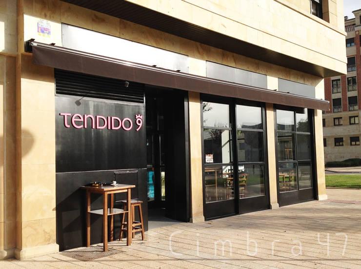 diseño y reforma local comercial en burgos. Bar Tendido9: Espacios comerciales de estilo  de Cimbra47