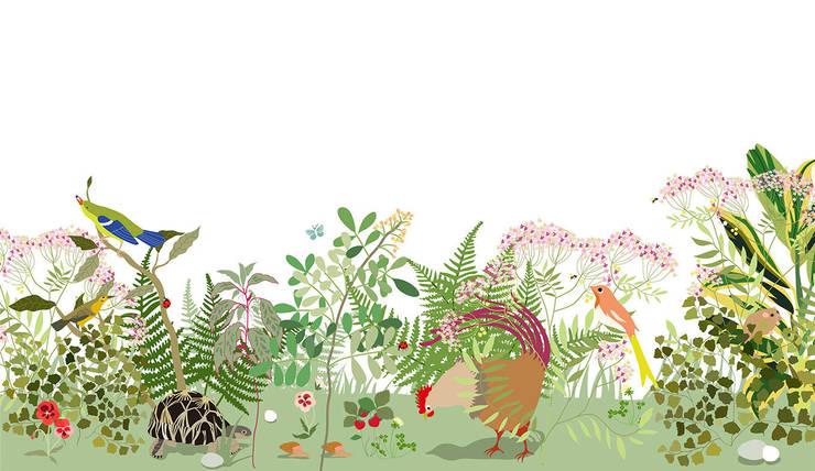 Décor Botanique: Murs & Sols de style  par Little Cabari