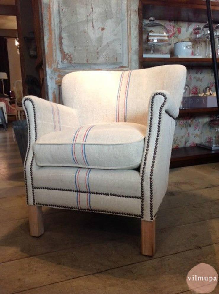 Sill n tapizado con tela de saco de vilmupa homify - Telas para tapizados de sofas ...
