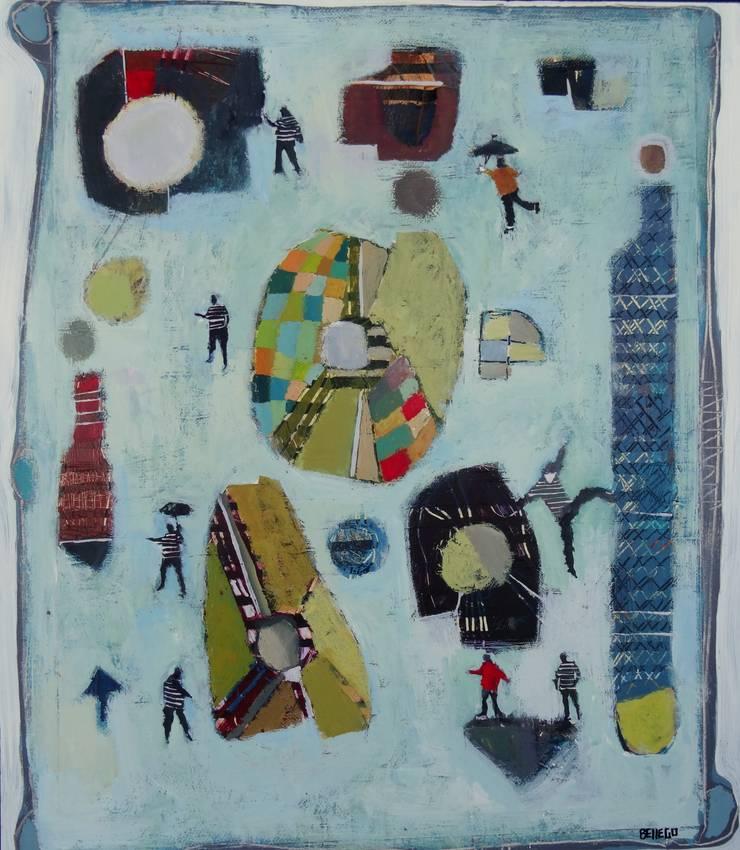 """tableau """"au milieu des formes"""": Art de style  par SIMON BELLEGO"""