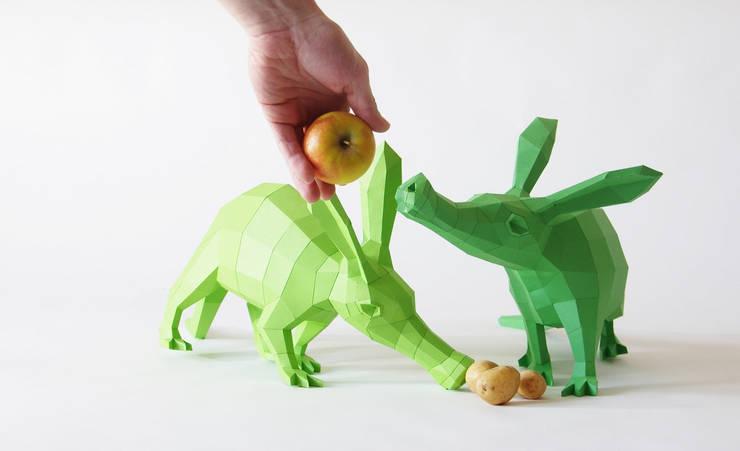 Erdferkel Annabell & Erwin zum selber bauen!:  Wände & Boden von Paperwolf