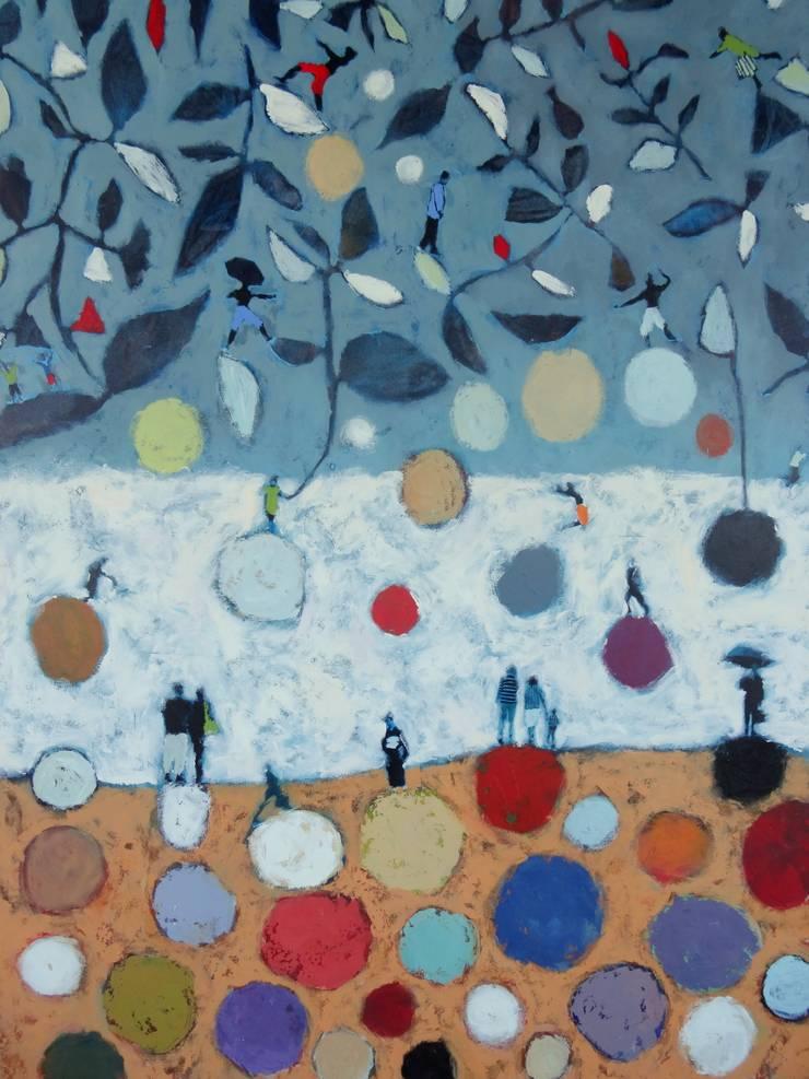 """tableau """" sous les feuilles"""": Art de style  par SIMON BELLEGO"""