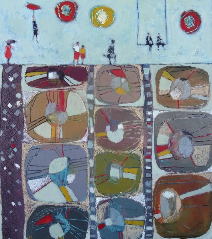 """tableau """" sur un mur de formes"""": Art de style  par SIMON BELLEGO"""