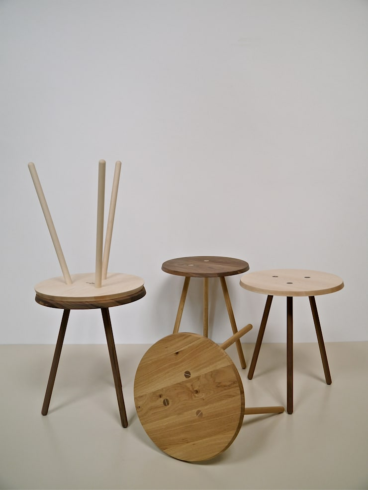 Occasional Peg Tables:  Living room by Barnby & Day
