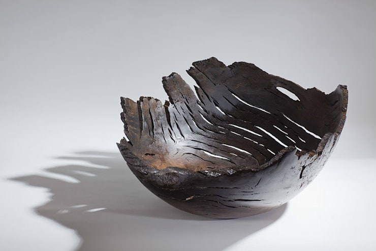 XXl Bog Oak bowl:  Artwork by Kieran Higgins Woodturnings