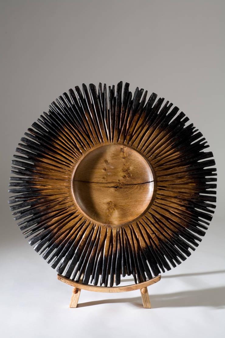 Burnt Fingers:  Artwork by Kieran Higgins Woodturnings