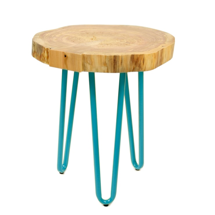 Table with a real piece of wood: styl , w kategorii Salon zaprojektowany przez Gie El Home