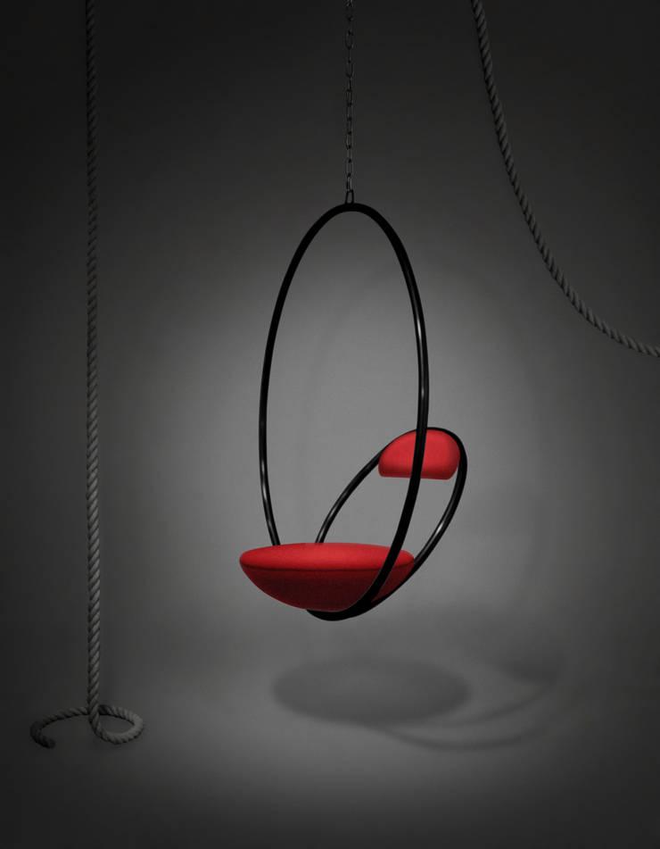 Hanging Hoop Chair Minimalist living room by Lee Broom Minimalist
