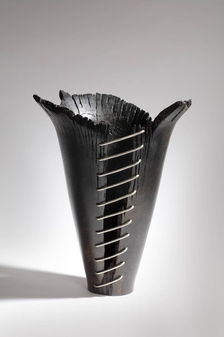 Bog Oak Vase:  Artwork by Kieran Higgins Woodturnings