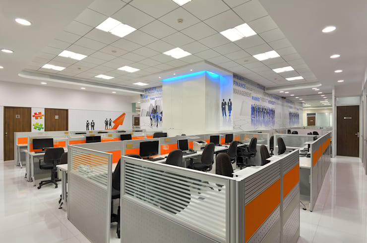 Datacomp Office:  Office buildings by Ar. Milind Pai