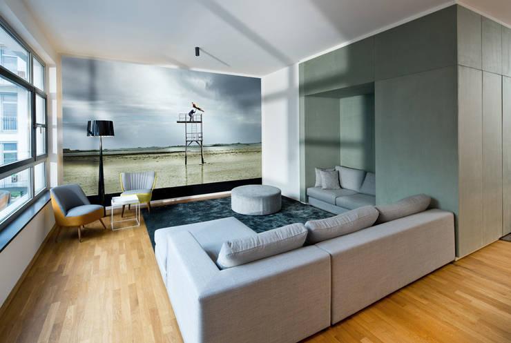DITTEL ARCHITEKTEN GMBH:  tarz Oturma Odası