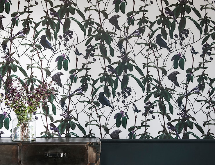 Folia Birds Wallpaper:  Walls & flooring by Witch and Watchman