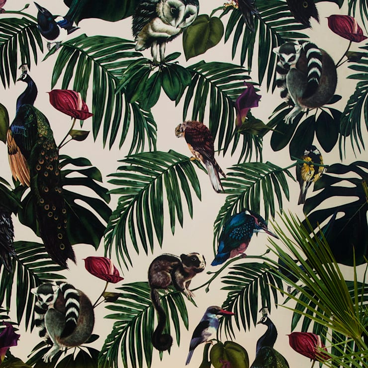 Amazonia Light Wallpaper:  Walls & flooring by Witch and Watchman