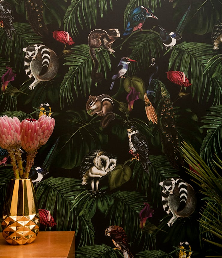 Amazonia Dark Wallpaper:  Walls & flooring by Witch and Watchman