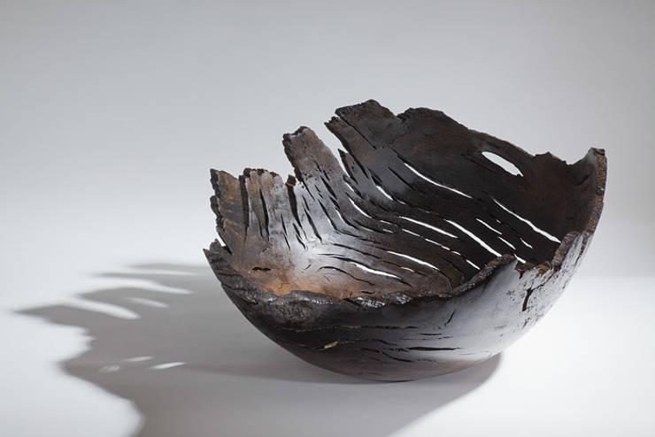Bog oak Bowl:  Artwork by Kieran Higgins