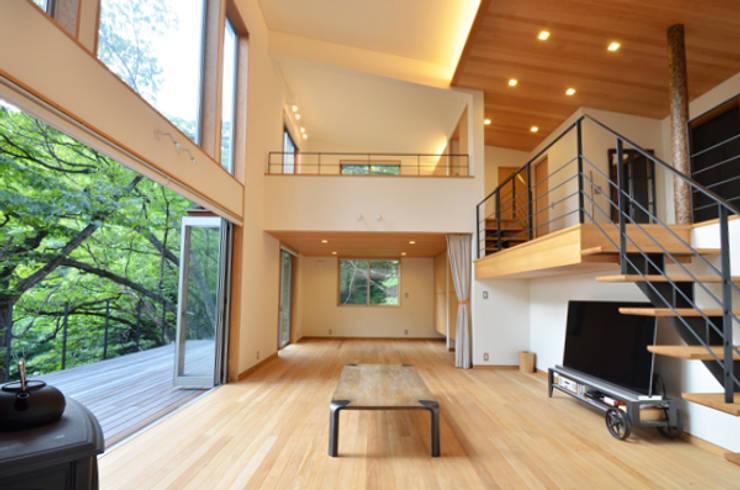.: 鎌田建築設計室が手掛けたリビングです。