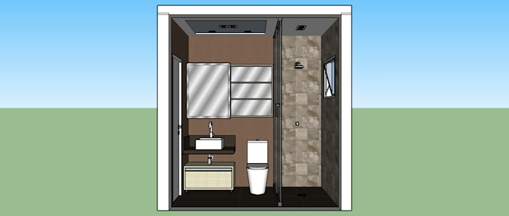 Banheiro Suíte:   por Cristiano Carvalho Arquitetura e Design