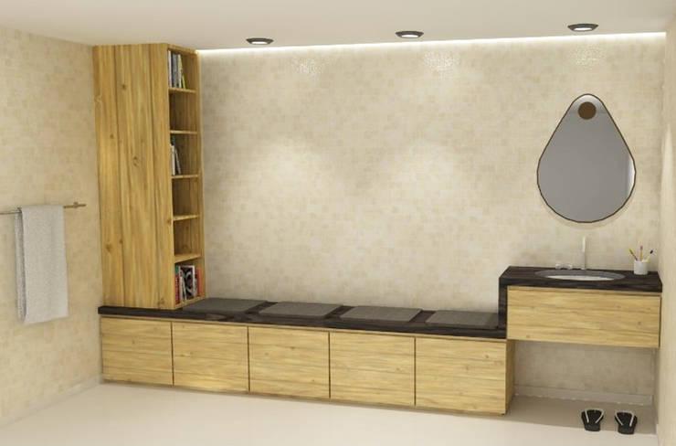 Badkamerkast 'Duplo': scandinavische Badkamer door AD MORE design