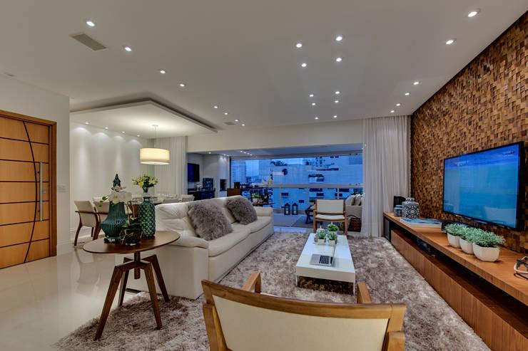 Projeto: Salas de estar modernas por carla felippi arquiteta