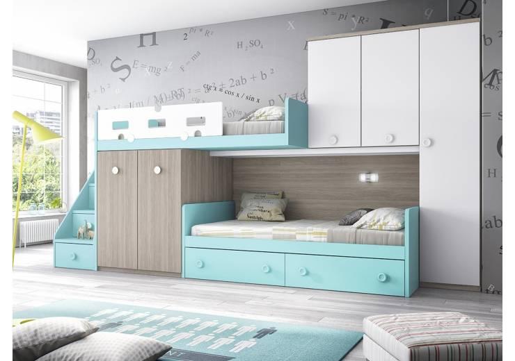 CAMAS TREN: Habitaciones infantiles de estilo  de imuebles Online