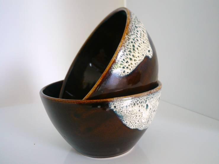 bol bicolore:  de style  par De la terre et de l'eau