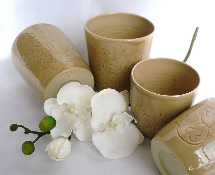 tasse à thé gravée:  de style  par De la terre et de l'eau
