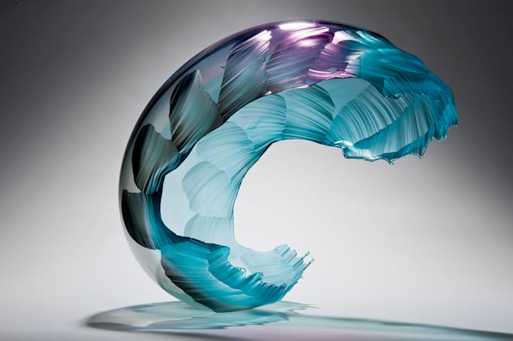 Teal Sea Dawn Wave II:   by Vessel Gallery