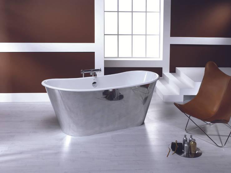 vasca in ghisa TRENDY acciao 170x68cm: Bagno in stile  di bleu provence