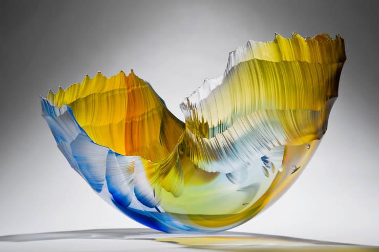 Golden Sunbeam Ocean Vessel:   by Vessel Gallery
