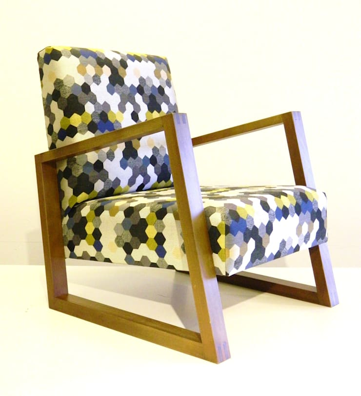 Sessel :  Wohnzimmer von TRaumkonzepte Raumausstattung und Polsterei,