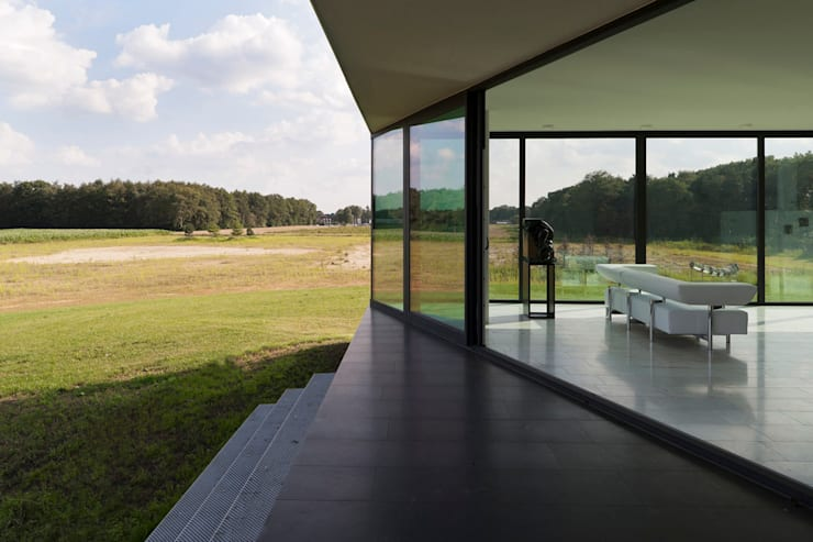 Projekty,  Taras zaprojektowane przez 123DV Moderne Villa's