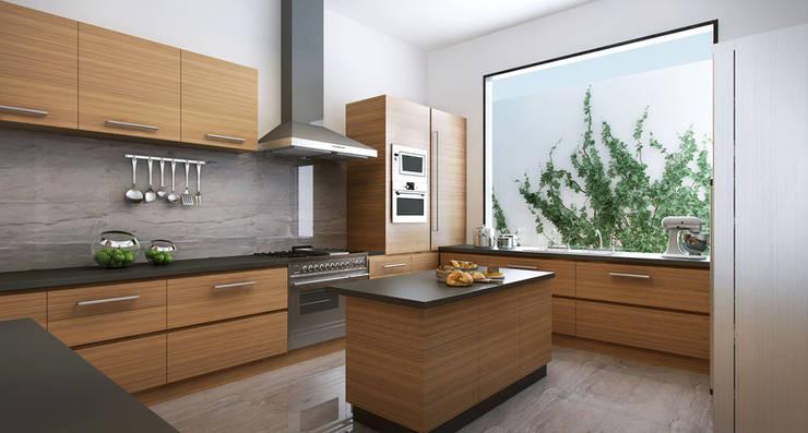 Cocina:  de estilo  por Eugenio Adame Arquitectos