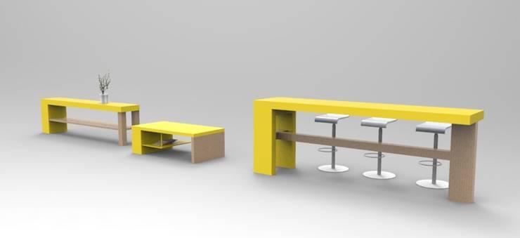 Muebles de Oficina: Oficinas y tiendas de estilo  por Jenifer Design Studio