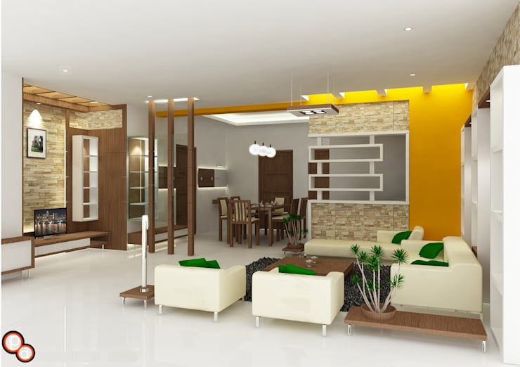 Living spaces: minimalistic Living room by Preetham  Interior Designer