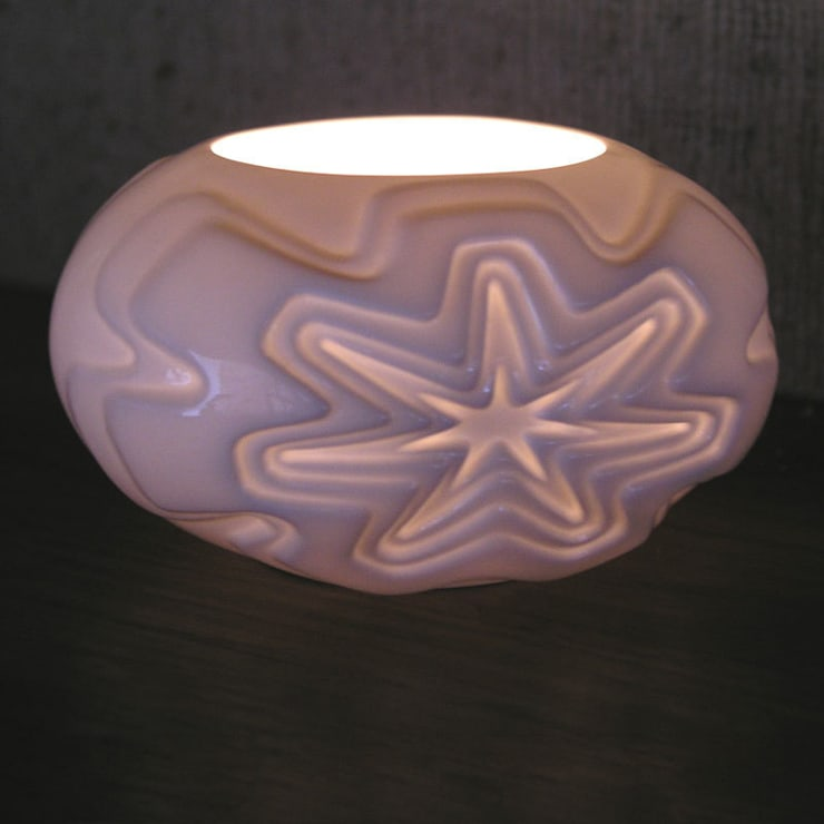 Star Tealight Holder :  Artwork by Bromley & Bromley
