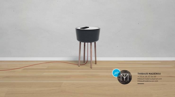 Table de chevet BAVARDE: Chambre de style  par TM - Créatif Indépendant