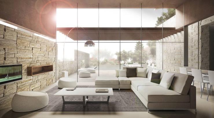 Living Room: Case in stile  di Storm Studio Architecture, Moderno