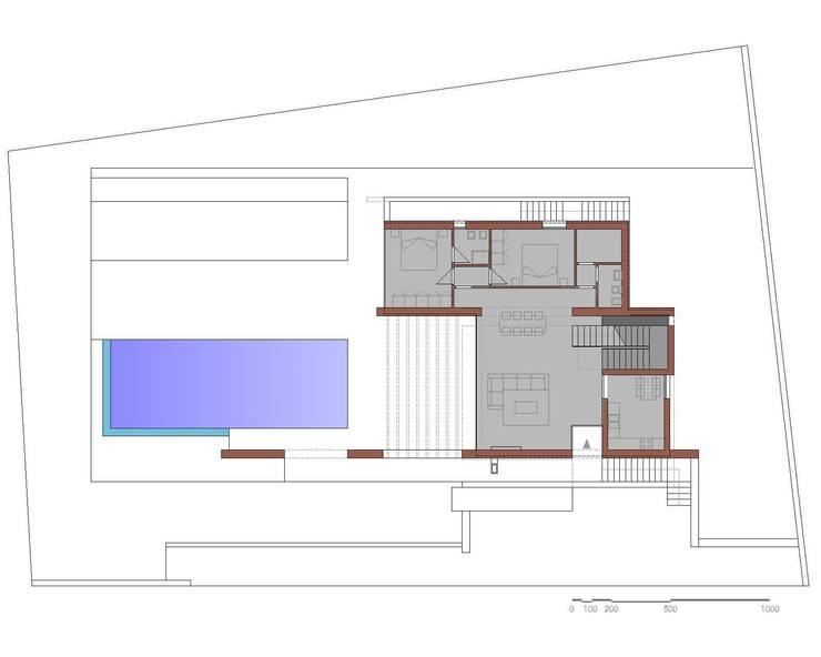 Pianta Piano Terra: Case in stile  di Storm Studio Architecture, Moderno