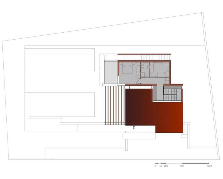 Pianta Piano Primo: Case in stile  di Storm Studio Architecture, Moderno