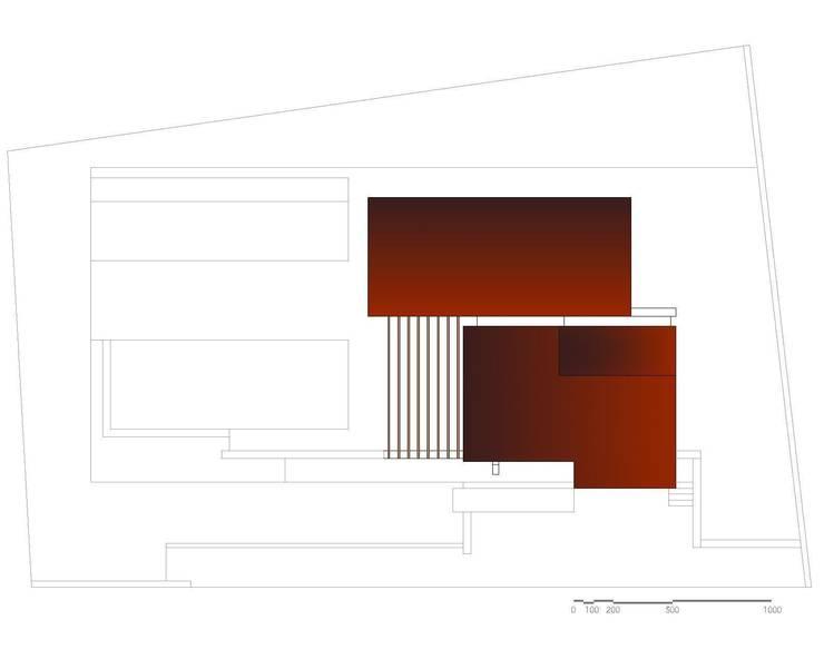 Pianta Piano Copertura: Case in stile  di Storm Studio Architecture, Moderno